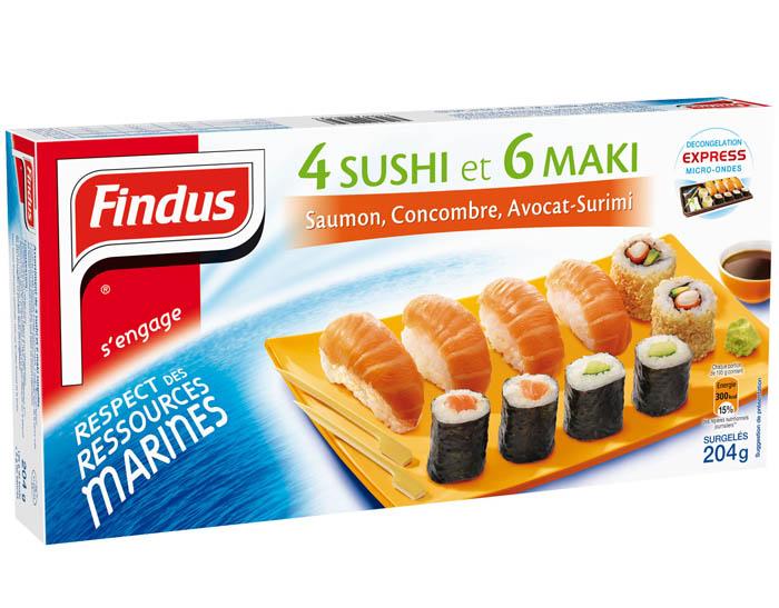 4 Sushi et 6 Maki