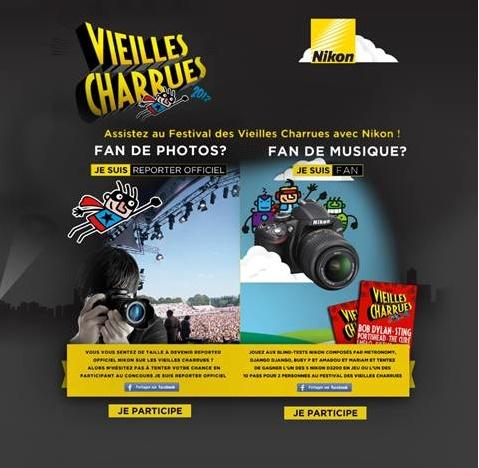 """Opération """"Nikon aux Vieilles Charrues"""""""